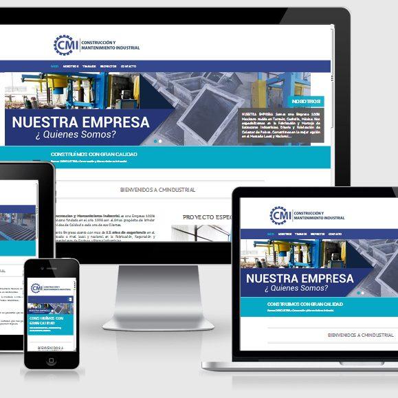 muestra de página web de la empresa CMIndustrial