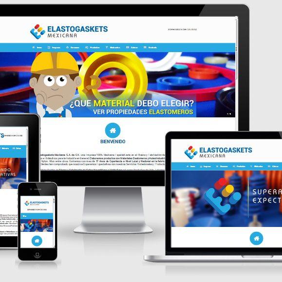 muestra de página web de elastogaskets mexicana