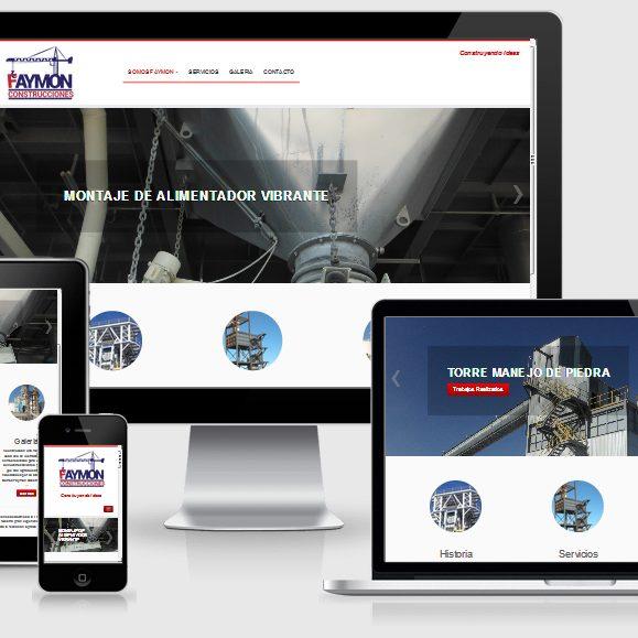 muestra de pagina web de la empresa Faymon Construcciones