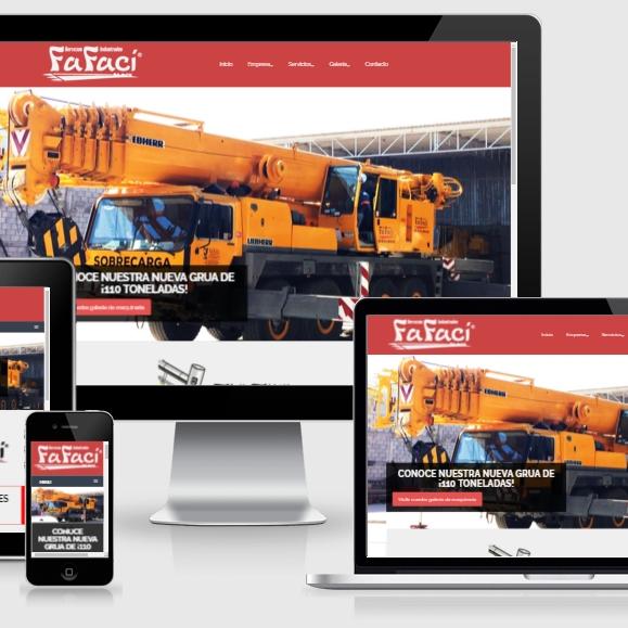 muestra de pagina web de la empresa servicios industriales fafaci