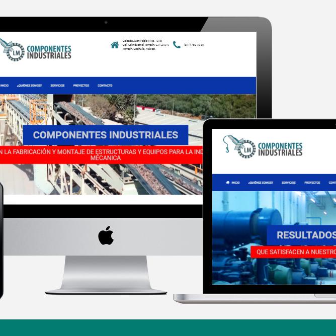 shd diseño web profesional todo incluido componentesindustriales web